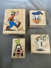 Rubber Stampede Disney Lot of 4 Stamp Goofy, Donald Duck 404C, A545C, 455E, 395C