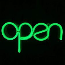Open Neon Sign For Window Displaying Light 15.5x8.4 Inch, Long Cord 11.5 Ft Led