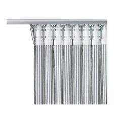 Ikea Pair Gulsporre Grey Pinstripe Long Lightweight Curtains 145 x 250cm