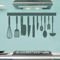Utensils Vinyl Wall Decal Sticker Kitchen Country Decor Rustic Cook Chef Food