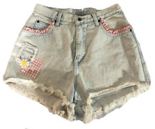 Vintage Rare Zena Booty Shorts 100% Cotton Denim Shorts Size 10