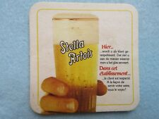 Belgian Beer Coaster ~ STELLA ARTOIS Brewery Bier ~ Clients are Served Properly