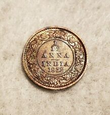1932 India 1/12 Anna coin