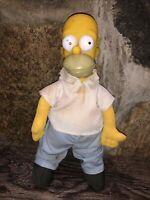 "VINTAGE Homer Simpson 11"" Plush Doll 20th Century Fox Matt Groening 1990"