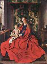 Eyck Jan Van Madonna With The Child Reading A4 Print