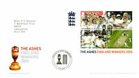 6 OCTOBER 2005 THE ASHES MINIATURE SHEET ROYAL MAIL FIRST DAY COVER LONDON SE10