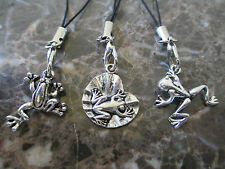 Lot of 3-Cell Frogs Toad Frog on Lilly Pad Backpack-Zipper Pull Charms