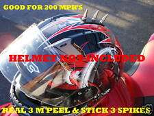 Motorcycle helmet metal spikes mohawk peel - stick on 3M helmets spike mohawks 3