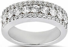 1.86 carat total Round Diamond Wedding Ring Anniversary Band F color Vs clarity