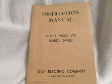 1954 Model Video Ttv Marka Sweep Manual / Instructions By Kay Electric Company