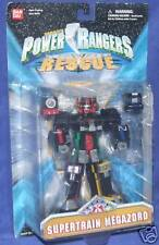 "Power Rangers Lightspeed Rescue 6"" Supertrain Megazord New Factory Sealed 2000"