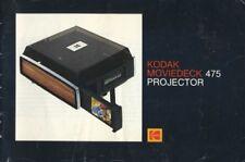 Kodak Moviedeck 475 Projector Instruction Manual
