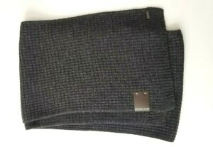 Michael Kors men's Thermal Muffler scarf  Gray New! 100% Wool
