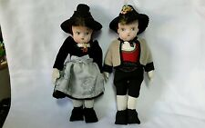 Boy and girl vintage cloth foreign dolls