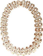 Collier Statement Kette rosegolden mit Strass Steinen Blickfang Elegant 47cm