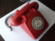 Red desk phone used TLP phones of Lisbon and Porto, Portugal.
