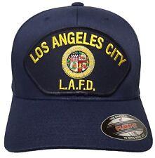 Los Angeles Fire Department LAFD Hat Flexfit Color NAVY Size L/XL
