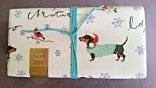 "Dachshund Doxie Dog ""Merry Christmas"" ""Let it Snow"" Fringe Decorative Bar Soap"