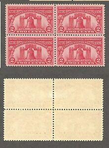 1926 U.S. Sesquicentennial Scott# 627 Block of 4 -  Mint, hinged  stk#FL