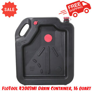 Oil Change Drain Container Large Pan 16 Qt. Leakproof High Capacity Car Auto NEW