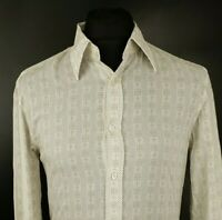 HUGO BOSS Mens Casual Shirt M MEDIUM Long Sleeve Gold Slim Line Cotton