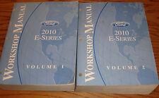 Original 2010 Ford Econoline E-Series Van Shop Service Manual Volume 1 & 2 Set