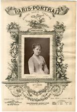 Lemercier, Paris-Portrait, Mlle Lesage, actrice Vintage albumen Print Tirage a