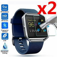 2Pc Premium Tempered Glass Screen Protector For Fitbit Blaze Smart Watch
