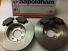 FIAT BRAVO 1.4 1.9JTD 2.0JTD NEW SOLID REAR  BRAKE DISCS  & PADS SET 2007 ON
