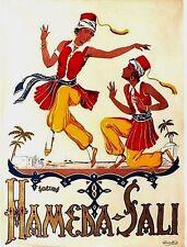 Original vintage poster HAMEDA-SALI SISTERS ARAB DANCE c.1920