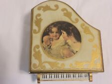 Vintage Betson'S Hand Painted Wooden Musical Piano Made In Japan