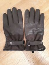 Saville Row Mens Leather Driving Gloves Brown - Size XL