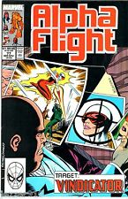 COMICS VO ¤ ALPHA FLIGHT n°77 ¤ 11/1989 ¤ TARGET : VINDICATOR
