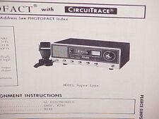 1975 PEARCE-SIMPSON CB RADIO SERVICE SHOP MANUAL MODEL SUPER LYNX
