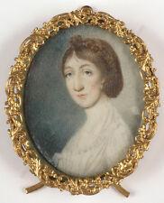 """Female portrait"", English miniature, 1855/60"
