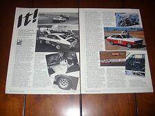 1971 DATSUN 1200 IT RACE CAR  ***ORIGINAL 1984 ARTICLE