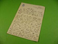 Brief von 1934 eines Passagiers des Schiff Columbus Norddeutscher Lloyd Bremen