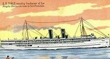 c.1910 S.S. Yale Breakwater Los Angeles Harbor to San Francisco P164