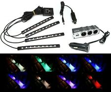 LED Strip Car RGB Interior Light Kit 9007 HB5 Bluetooth Phone Plug Play Flooring