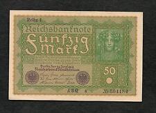 Germania Impero Tedesco banconota 50 Marchi Donna 24 Juni 1919 UNC WW1