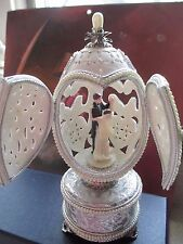 "Authentic Decorated Goose Egg ""Eternally Together"" Wedding Music 30598"