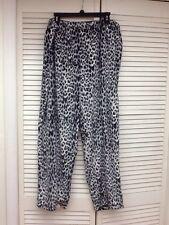 Laura Scott, Fleece Pajama Bottoms, Animal Print, Sz.Plus 2X, NWT