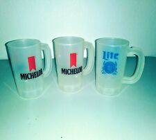 Lot of (3) Vintage Michelob and Lite Beer 14-16 oz Plastic Mugs