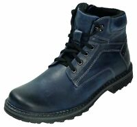 Abis Stiefel Leder Boots Schnürschuhe blau 4627K-499-1975 40 - 46 Neu6
