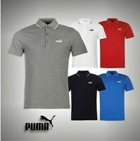 Mens Genuine Puma No 1 Logo Pique Polo Shirt Short Sleeved Top Size S M L XL XXL