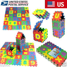 36PCS Soft Foam Baby Kids Alphabet Number Play Mats Puzzle Educational Toys US