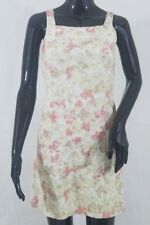 J Crew Womens Mini Dress Size P1 Beige Floral Linen Rayon Blend Sleeveless
