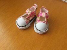 Chaussures basket rose fleur pour poupée little darling Dianna Effner minouche