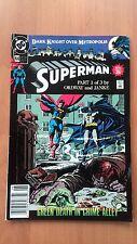DARK KNIGHT OVER METROPOLIS, Superman part 1 of 3: Green Death dans crime Alley 1990