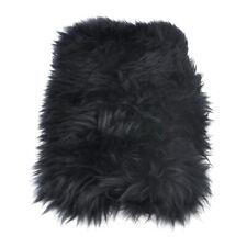 Black Car Sheepskin Center Console Armrest Box Cover Mat Pad Wool Cushion ti